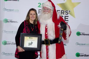 Dr. Kate and Santa with Best of Mississauga Award