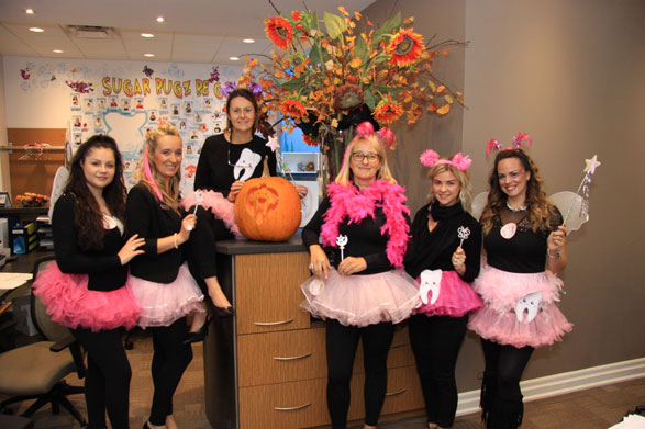 Halloween WCD staff in tooth fairy costume